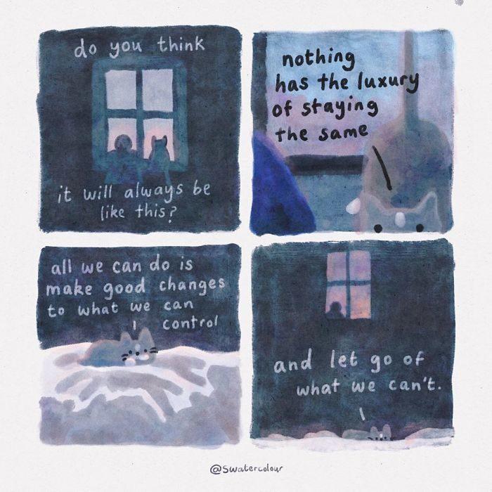 讓貓貓治癒你的心!19張「療傷系插畫」讓你不再被悲傷佔據