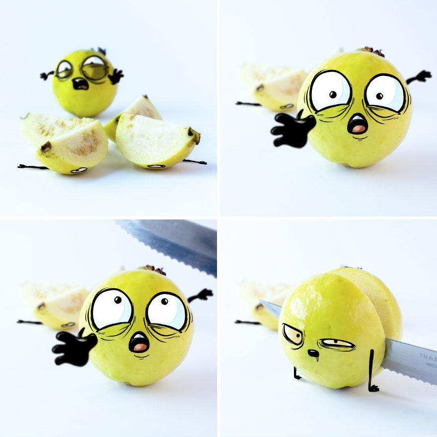 22個被折磨到「求求你快點吃了我」的超有戲水果