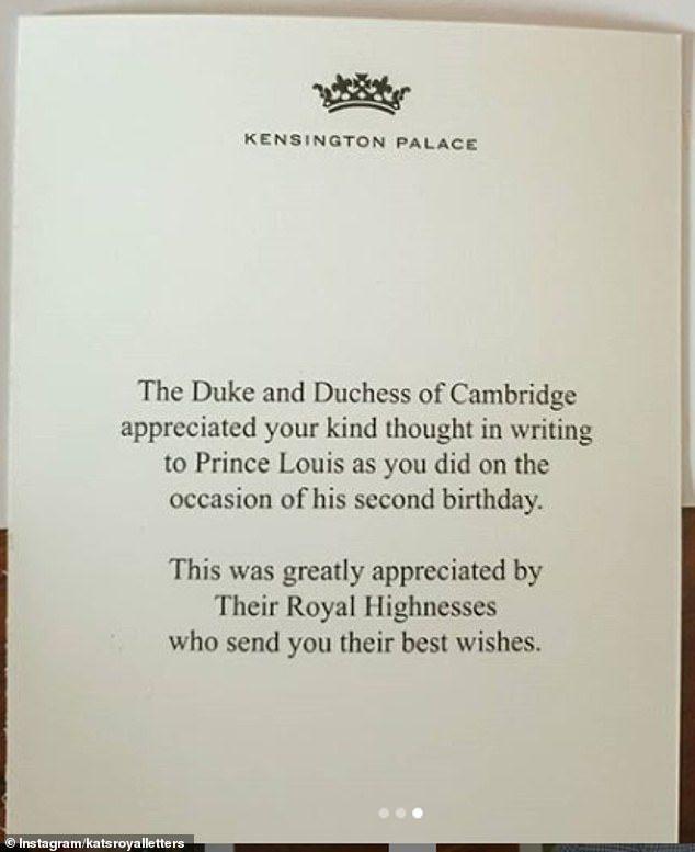 凱特王妃分享「2歲小王子」帥萌照 直接「寄給粉絲」超親民!