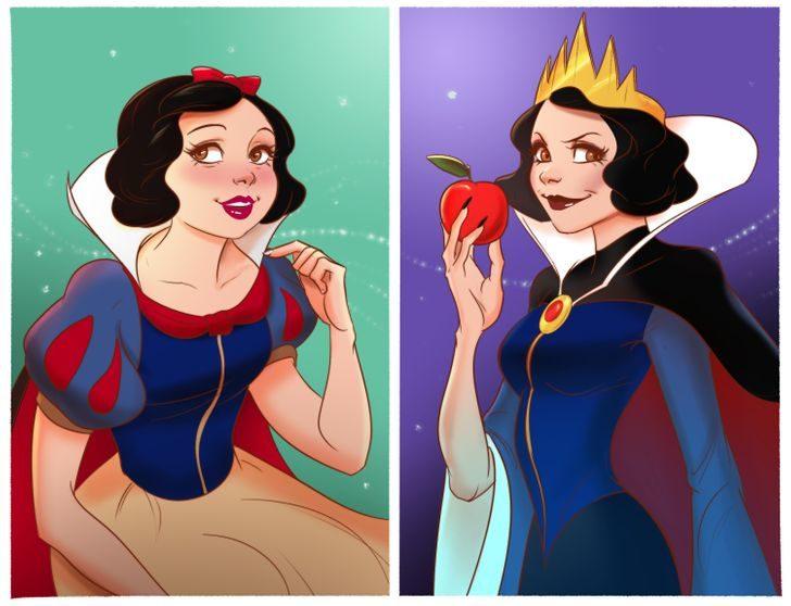 如果在迪士尼「公主是反派」會怎樣?貝兒變邪惡山莊女主人太辣