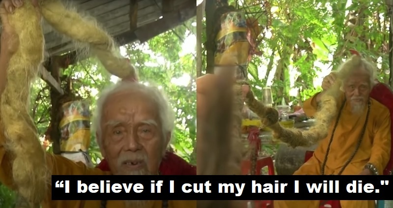92歲老人「堅信椰子教」認為頭髮有生命...80年不敢剪!