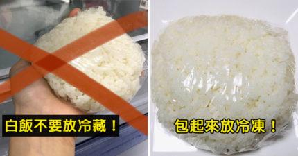 白飯放冰箱變超硬?日本農會解密:「放冷凍」才好吃!