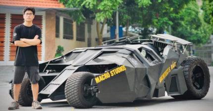 大學生自製「平民版蝙蝠車」 花不到100萬還原上千萬神車