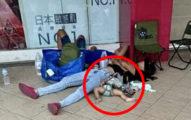 家長讓「嬰兒睡地板」一起夜排口罩 民眾怒檢舉下場超慘