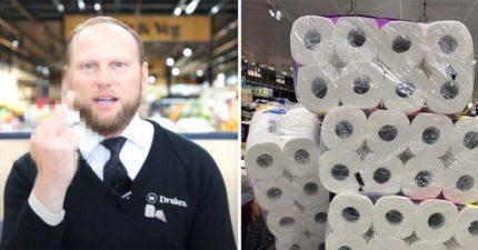 囤「30萬衛生紙」賣不出去想退 老闆「霸氣中指」回應:別想