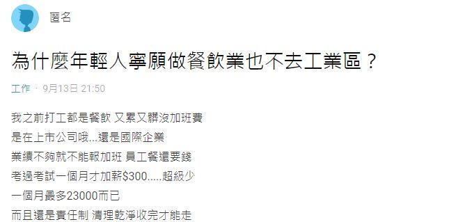 畢業生「寧願領23K」也不做福利超好工廠 超現實原因曝光