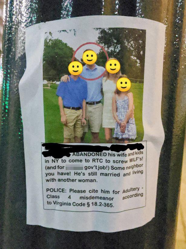 女人不好惹...猛妻貼海報「公開渣男老公」:警察快來抓!