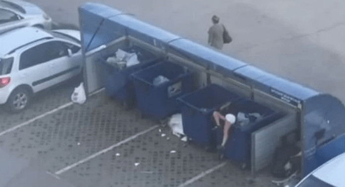 跟女友吵架 猛男霸氣公主抱...下秒「丟進垃圾桶」直接閃人