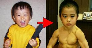 3歲童苦練「變日版李小龍」 超結實背肌根本能夾斷筷子
