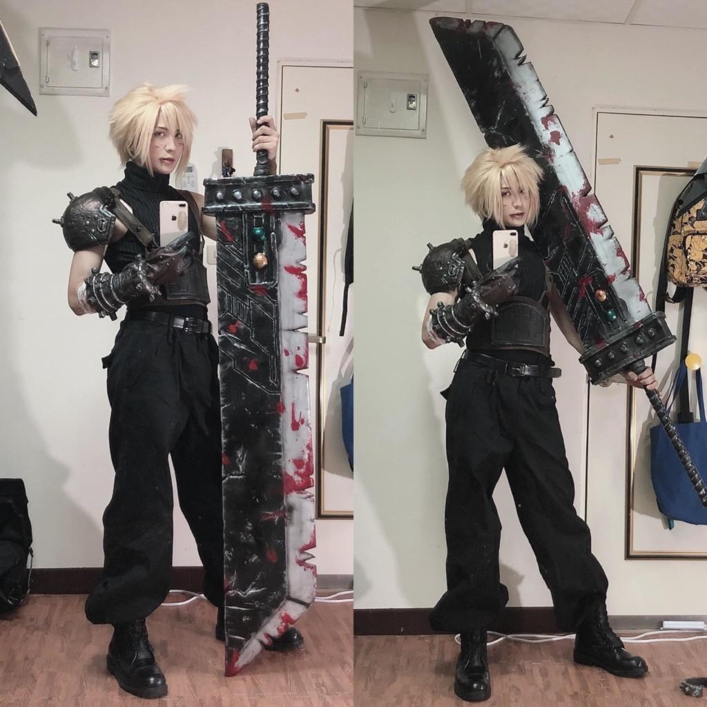 台灣帥哥Coser「手作」整套盔甲道具 超可愛「女裝克勞德」影片紅到國外|專訪