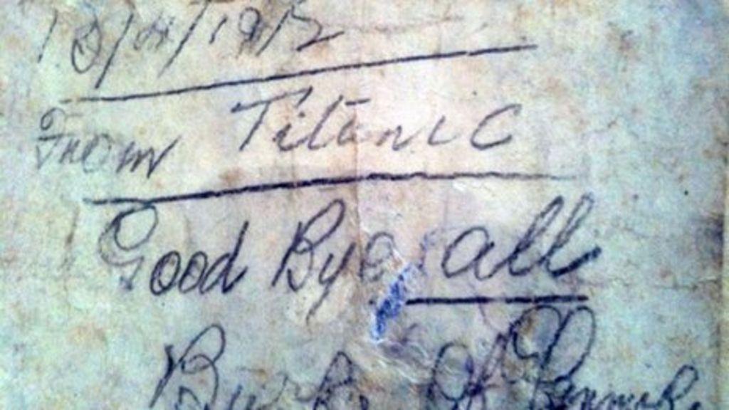 鐵達尼號乘客「留下瓶中信」 一年後「漂到媽媽手裡」比電影故事更感人