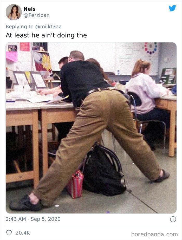 老師超怪姿勢