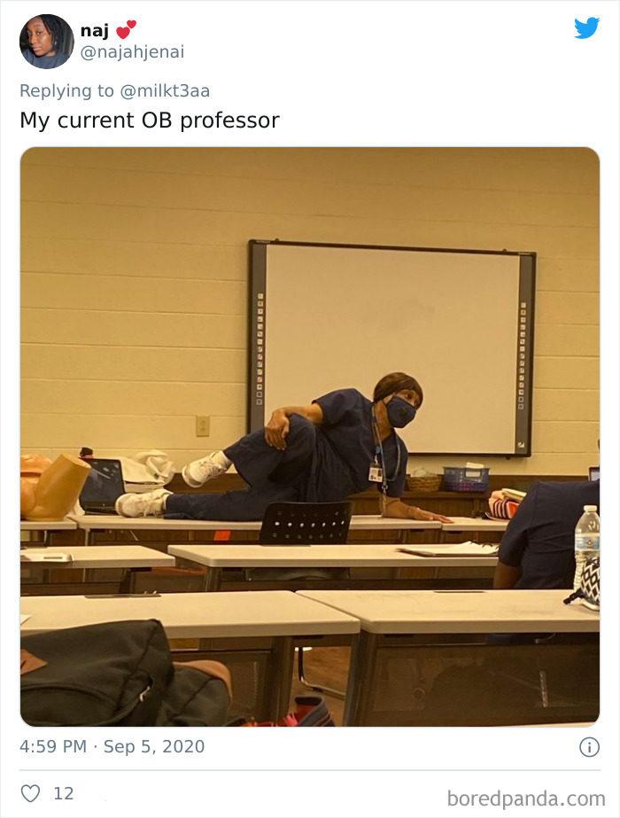 老师超怪姿势