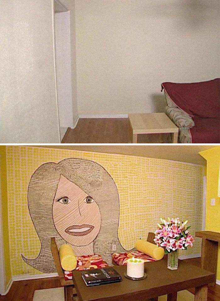 25個房間改造「超失敗案例」 溫馨小屋冒出無神大嘴女快嚇瘋