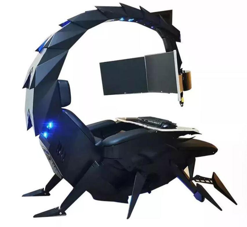 未來感爆表「蠍子電競椅」 還能「動起來」超狂功能彷彿科幻片!