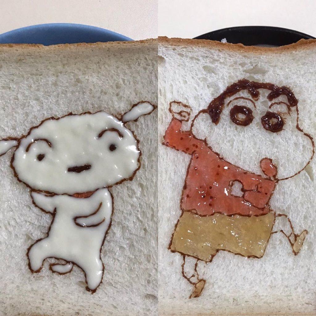 果醬畫家把「吐司當畫布」 《灌籃高手》所有角色都現身!