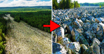 沒有半滴水的「大石河」 上萬顆10噸巨石組成千年奇景