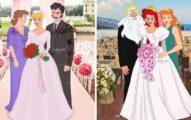 藝術家還給公主們「完美婚禮」 看到半透明父母直接淚崩