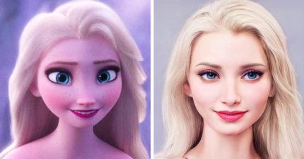 如果「迪士尼角色」變成真人?小美人魚「仙氣紅髮」像偶像劇女主!