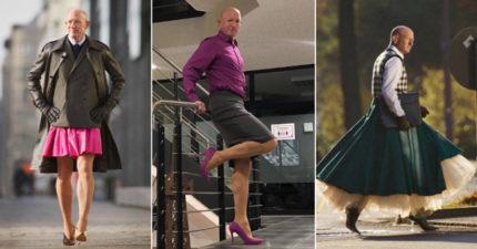 打破性別束縛!直男上班愛穿「高跟鞋」 完美駕馭黑絲:做自己最重要
