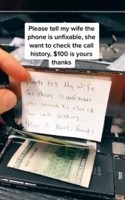 他2000元賄賂維修員「別修好手機」 妻子「手段更高明」直接抓包!