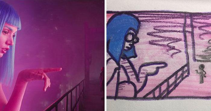 30張爆紅「廢到笑」電影插畫 李奧納多「經典手指」傳神到噴笑!
