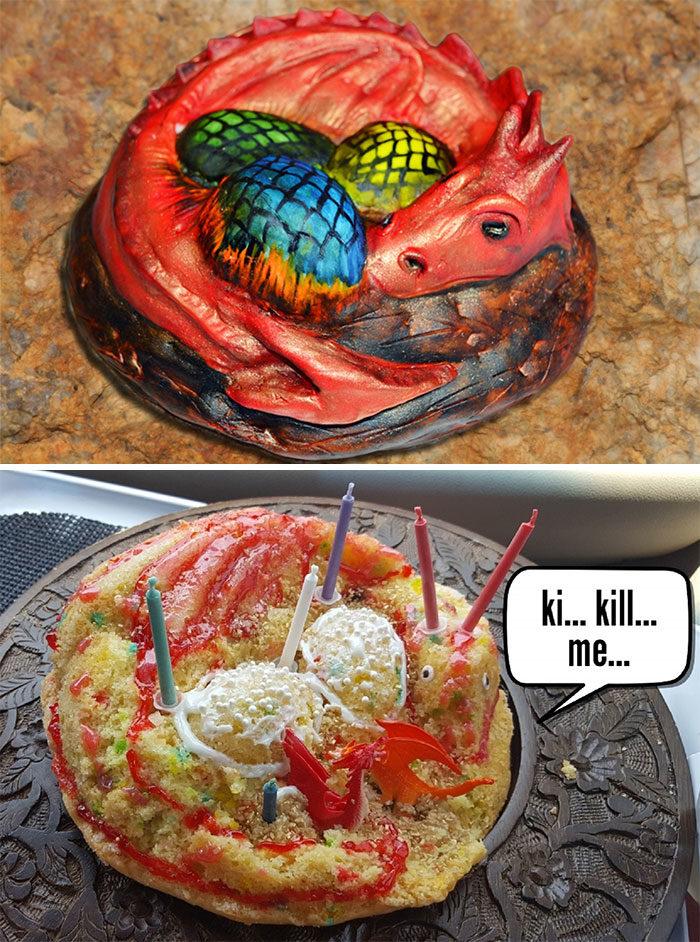 26張「理想與現實」的蛋糕悲劇 蜘蛛人變「衰臉俠」真的不想過生日了