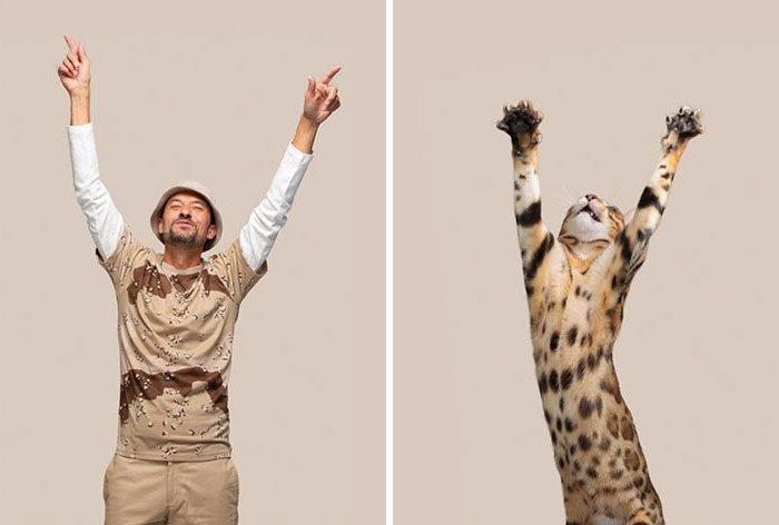 16個跟「貓皇撞臉」的人類 緬因貓變英國帥紳士超想原地結婚