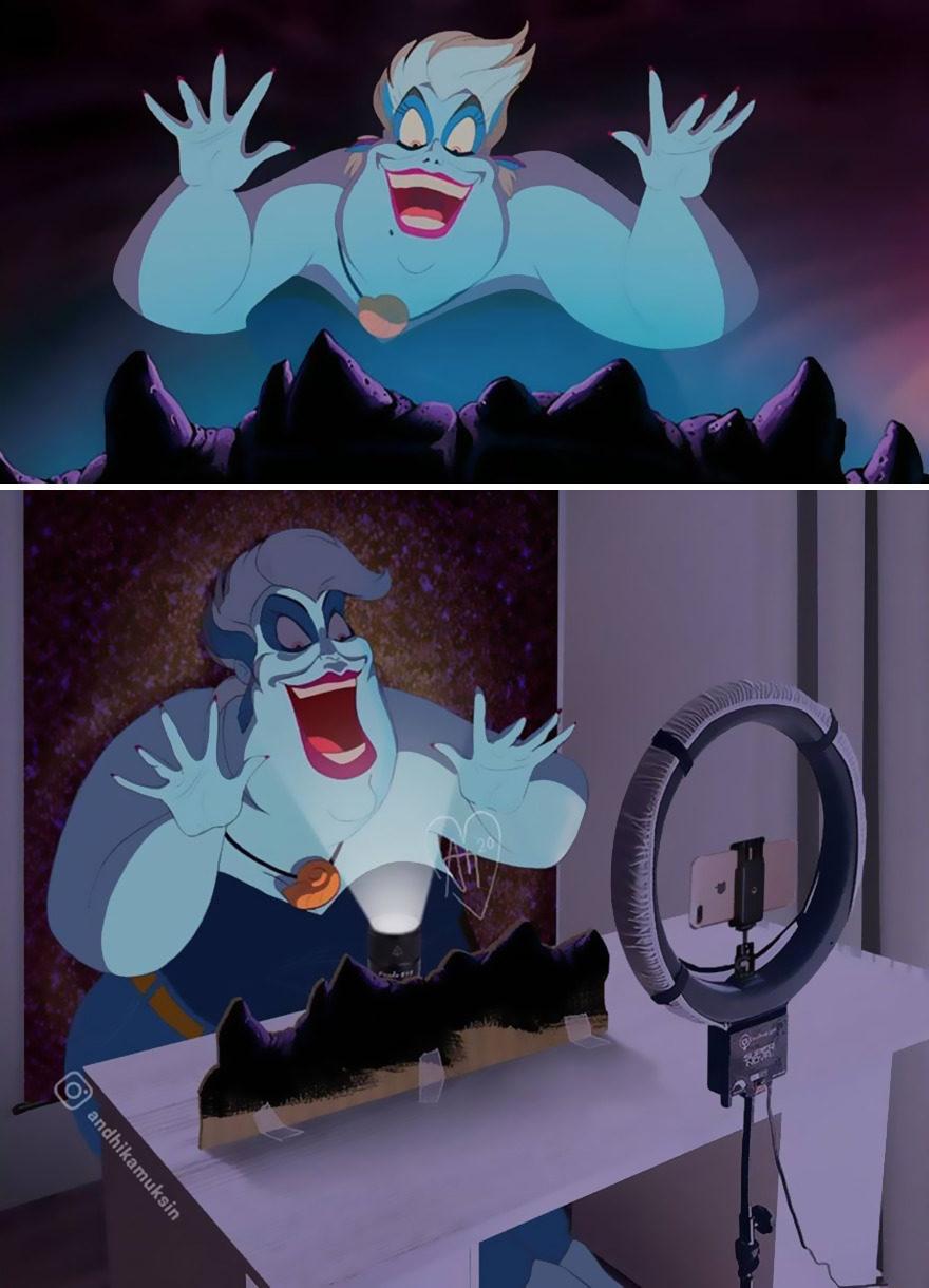 如果迪士尼是真人電影? 黑魔女打工「綠幕扮惡龍」糗翻