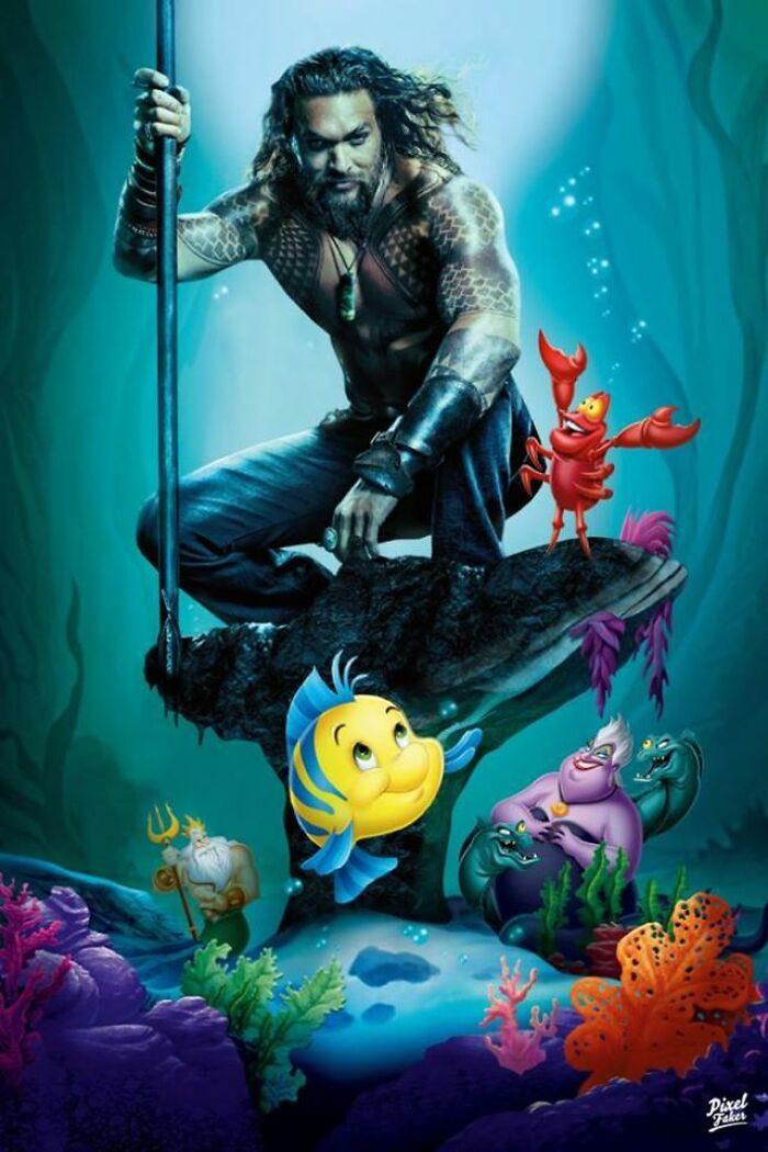 22張「電影大亂鬥」PS照 水行俠成為「小美人魚」無違和