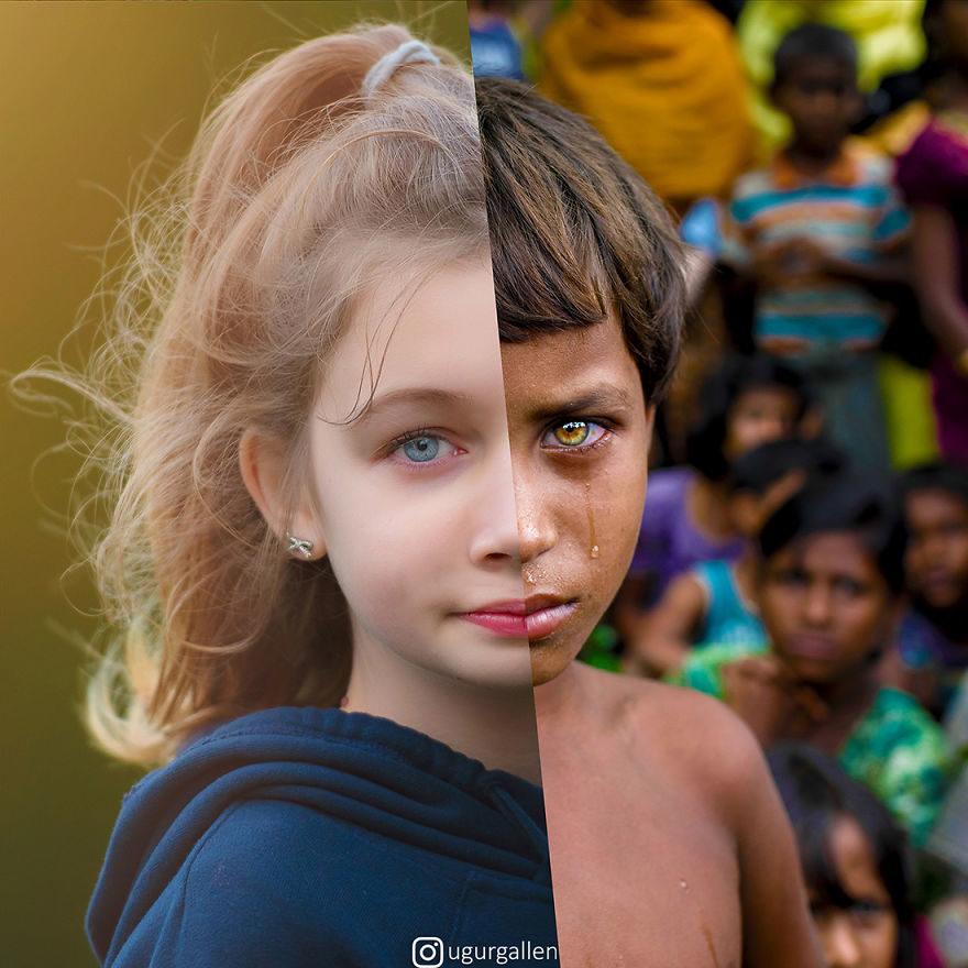 他拍下「生活在兩個世界」震撼對比!當你無憂無慮「世界另一邊在受苦」