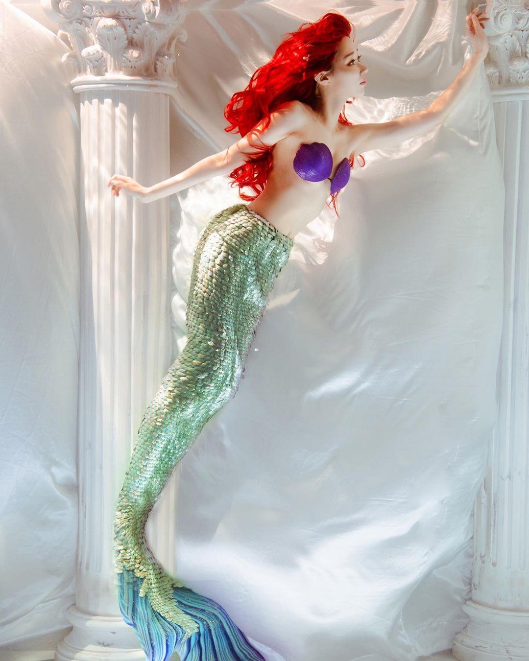 真實小美人魚!正妹神還原「愛麗兒」仙氣爆表 水底下紅髮飄揚超唯美❤