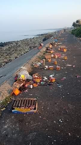 連假玩到「忘記公德心」 台南「垃圾堆滿海岸線」網轟太沒水準!