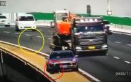 荒謬駕駛一次示範「3項三寶特技」 中國交警急闢謠:假的!