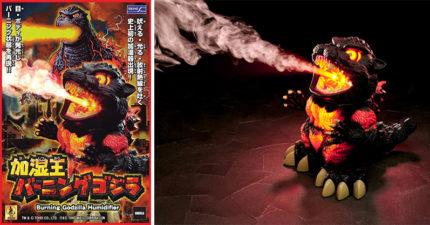 霸氣爆表「哥吉拉加濕器」 噴出「橘色光束」神還原電影畫面!