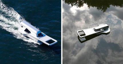 影/會游泳的「拉鍊」!把水當成外套 俯瞰視角見證「一分為二」奇景