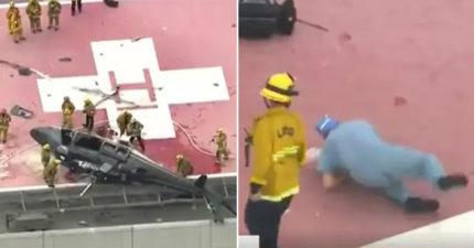直升機送器官「整台摔屋頂」 醫生接手寶貴心臟「又仆街」