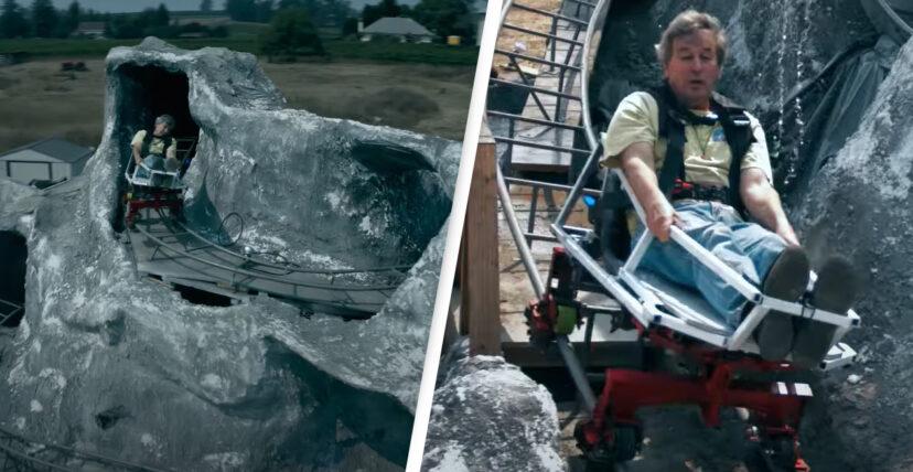 影/狂男在後院「DIY雲霄飛車」 「超刺激軌道」讓你想付錢叫他量產