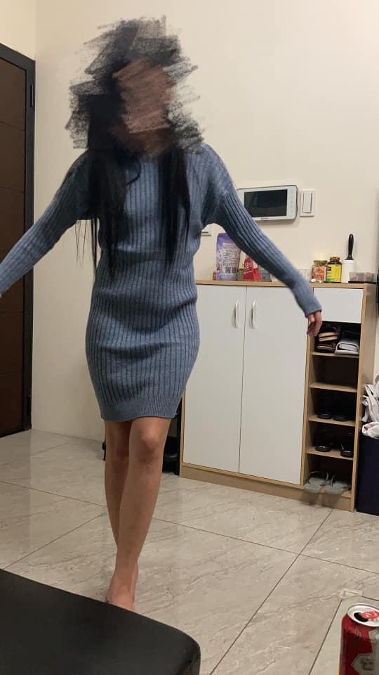 網購「慵懶洋裝」送來變緊身 正妹抱怨照「身材太好」直接歪樓