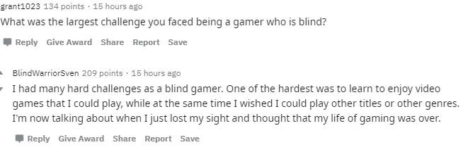 這位遊戲玩家是「盲人」 卻能靠「兩種技巧」打敗專業對手!