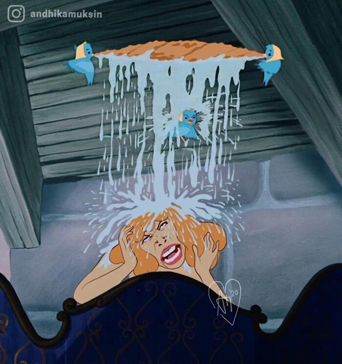 28張「現實中的迪士尼」 黑魔女隔離中還要忙「視訊下咒」