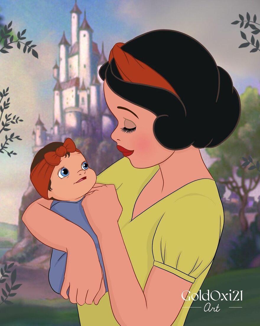 迪士尼公主當媽媽