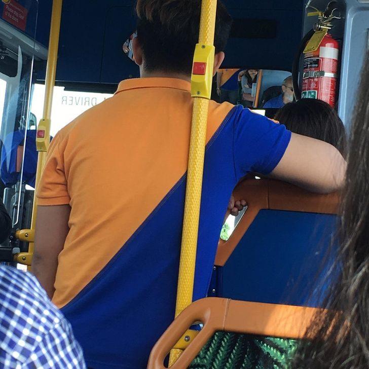 16張「比九星連珠」還罕見的巧合照 跟公車撞衫差點被當椅子