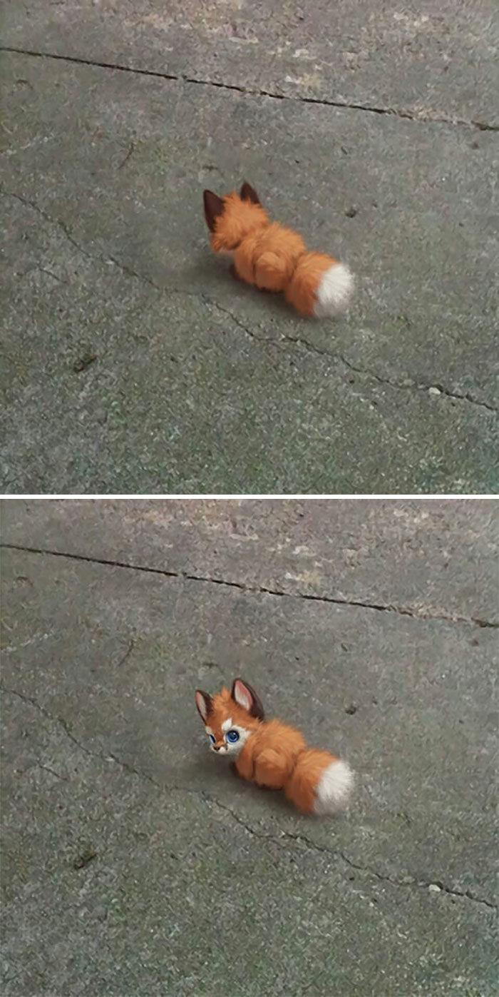 不能養狗只好養「假想寵物」 掌上小狐狸萌到讓人想喊+1❤