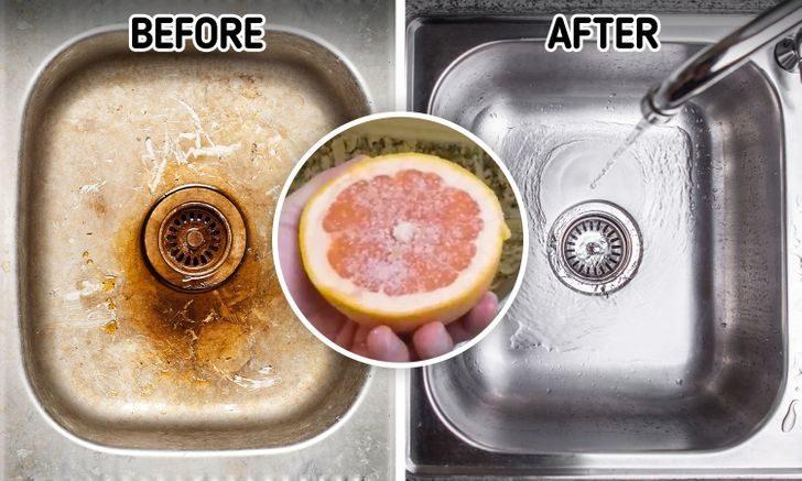 9種天然健康「食物清潔小撇步」 「葡萄柚+鹽」還你全新浴缸