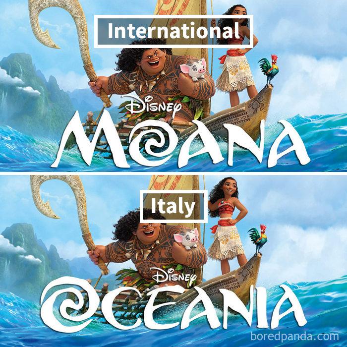 16個迪士尼的「在地化細節」 義大利版《海洋奇緣》尷尬撞名