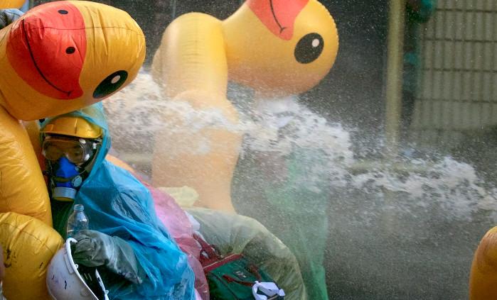 示威者帶超多「黃色小鴨」到抗議現場?衝突時「意外作用」曝光