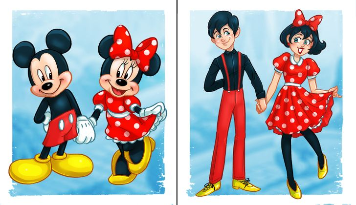 16組「迪士尼動物」變人類!米奇和米妮是「夢幻情侶」雪寶崩壞了