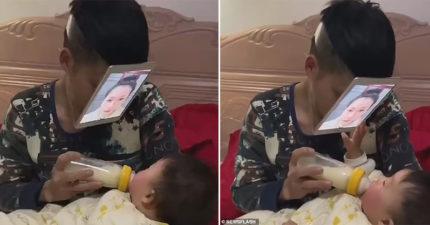 聰明爸自製「數位老婆」 寶寶一摸:還是這個臉比較開胃