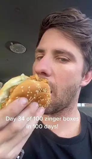 不是無腦挑戰!他「連吃肯德基100天」用自己的身體為朋友發聲
